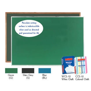Aarco DS3648G Green Chalkboard with Aluminum Frame 36