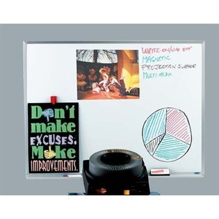 """Aarco WDS4872 White Porcelain Markerboard with Aluminum Frame 48"""" x 72"""""""