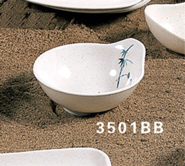 Thunder Group 3501BB Blue Bamboo Sauce Dish 6 oz. (1 Dozen)