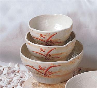 Thunder Group 3704 Gold Orchid Wave Rice Bowl 10 oz. (1 Dozen)