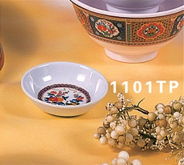 "Thunder Group 1101TP Peacock Sauce Dish 2-3/4"" (1 Dozen)"