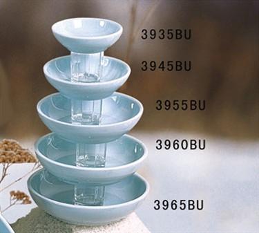 "Thunder Group 3935 Blue Jade Sauce Dish 3-3/4"" (1 Dozen)"