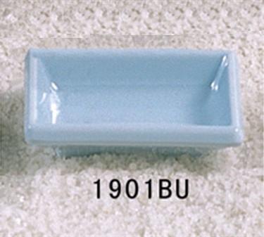 "Thunder Group 1901 Blue Jade Square Sauce Dish 3-3/4"" x 2-1/2"" (1 Dozen)"