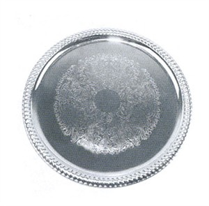 Winco CMT-14 Chrome Plated Round Serving Tray, 14'' Dia.