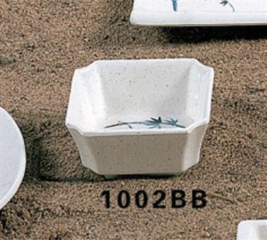 Thunder Group 1002BB Blue Bamboo Square Side Dish 4 oz. (1 Dozen)