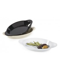 GET Enterprises SD-08-BK Black Oval Melamine Side Dish, 10 oz. (2 Dozen)