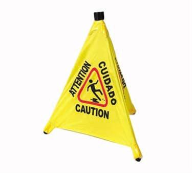 Winco CSF-4  Four Facet Wet Floor Caution Sign