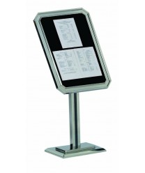 Aarco P31-C Chrome Single Pedestal Ornamental Sign and Poster Stand