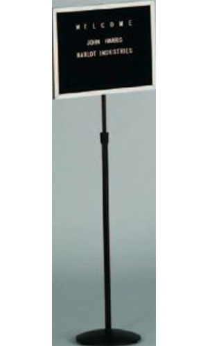 Aarco SMD1218 Single Pedestal Changeable Letter Board 12