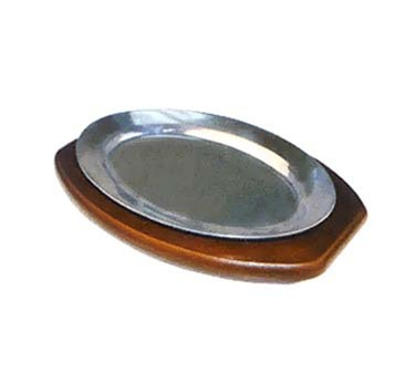 Winco APL-11 Aluminum Oval Sizzling Platter, 11''