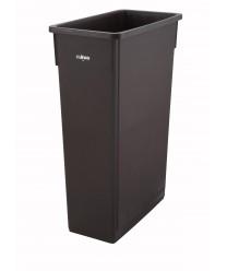 Winco PTC-23B Brown Slender Trash Can, 23 Gallon
