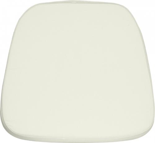 Flash Furniture Soft Ivory Fabric Chiavari Chair Cushion [LE-L-C-WHITE-GG]