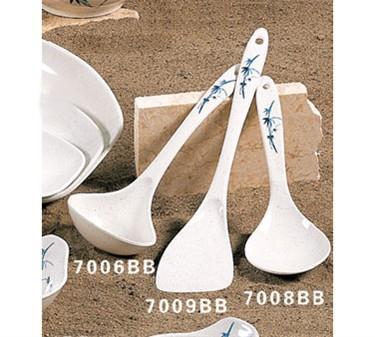 "Thunder Group 7006BB Blue Bamboo Blue Bamboo Soup Ladle 9-3/4"" x 3-3/8"" (1 Dozen)"