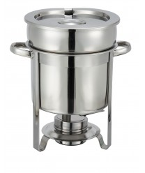 Winco 207 Stainless Steel Soup Warmer, 7 Qt.
