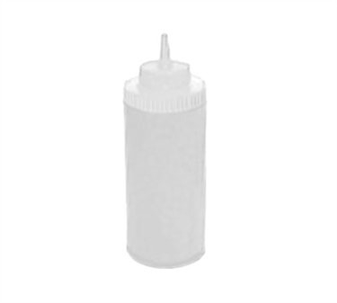 Winco PSW-16 Clear Wide Mouth Plastic Squeeze Bottle 16 oz.
