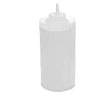 Winco PSW-32 Clear Wide Mouth Plastic Squeeze Bottle 32 oz.
