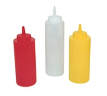 Winco PSB-08C Clear Plastic Squeeze Bottle 8 oz.