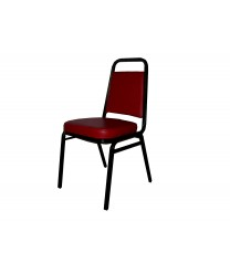 Winco SC-3BU Stacking Chair with Burgundy Cushion