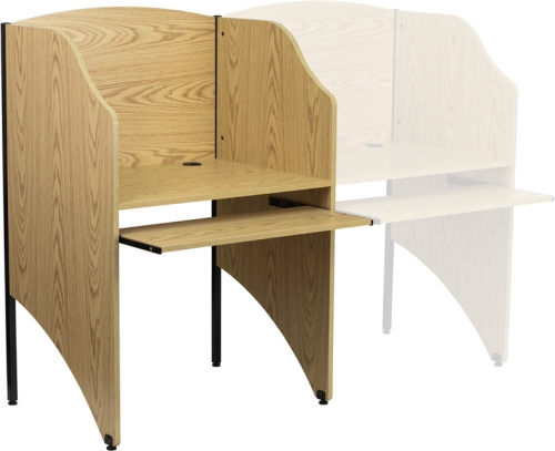 Flash Furniture  Starter Study Carrel in Oak Finish [MT-M6201-OAK-GG]