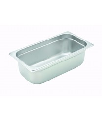 Winco SPJH-304 1/3 Size Anti-Jam Steam Table Pan, 4'' Deep