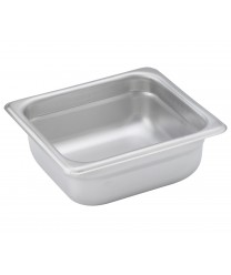 Winco SPJH-602 1/6 Size Anti-Jam Steam Table Pan, 2-1/2'' Deep
