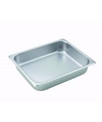 Steam Table Pan, half size, 2-1/2'' deep, 24 gauge stainless steel, NSF(1 Each/Unit)