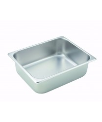 Steam Table Pan, half size, 4'' deep, 24 gauge stainless steel, NSF(1 Each/Unit)