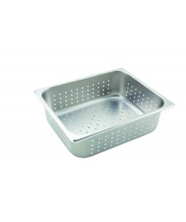 Winco SPHP4 Half Size Perforated Steam Table Pan, 4'' Deep