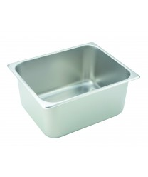 Steam Table Pan, half size, 6'' deep, 24 gauge stainless steel, NSF(1 Each/Unit)