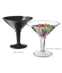 GET Enterprises SW-1419-BK Black SAN Plastic Super Martini Glass, 48 oz. (3 Pieces)