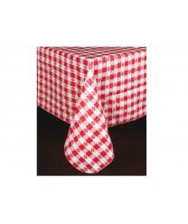 """Winco TBCS-52R Red Square Checkered Table Cloth 52"""" x 52"""""""