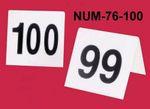 GET Enterprises NUM-76-100 Table Number Cards Tents 76-100 (3 Sets)