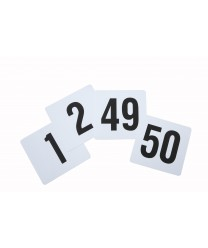 "Winco TBN-50 Plastic Table Numbers Set 1-50, 4"" x 3-3/4"""