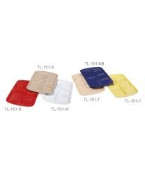 "GET Enterprises TL-151-T Tan Melamine Left Hand 6 Compartment Tray, 9 -1/2""x 14-3/4""(1 Dozen)"