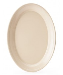 "GET Enterprises OP-912-T Tan SuperMel Oval Platter, 12""x 8-1/2""(2 Dozen)"