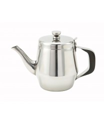 Winco JB2932 Stainless Steel Gooseneck Teapot with Handle 32 oz.
