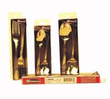Winco 0082-01 Pack of Windsor Medium Weight Teaspoons, 18/0 Stainless Steel (2 Dozen)