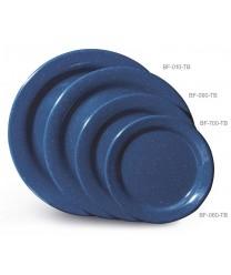 "GET Enterprises BF-090-TB Texas Blue Round Plate, 9""(2 Dozen)"