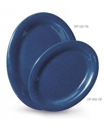 """GET Enterprises OP-120-TB Texas Blue Oval Platter, 12""""x 9""""(1 Dozen)"""