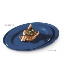 "GET Enterprises M-4010-TB Texas Blue Melamine Oval Platter, 16""x 12""(1 Dozen)"