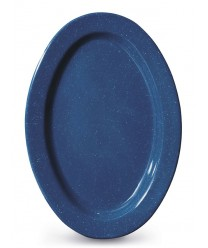 "GET Enterprises OP-215-TB Texas Blue Oval Platter, 11-1/2""x 8""(2 Dozen)"