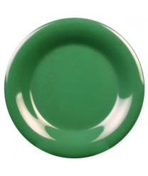 "Thunder Group CR007GR Green Melamine Wide Rim Round Plate 7-1/2"" (1 Dozen)"