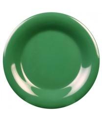 """Thunder Group CR010GR Green Melamine Wide Rim Round Plate 10-1/2"""" (1 Dozen)"""