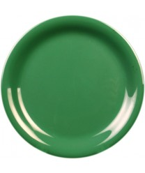 "Thunder Group CR107GR Green Melamine Narrow Rim Round Plate 7-1/4"" (1 Dozen)"