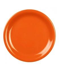 "Thunder Group CR109RD Orange Melamine Narrow Rim Round Plate 9"" (1 Dozen)"