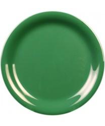 """Thunder Group CR110GR Green Melamine Narrow Rim Round Plate 10-1/2"""" (1 Dozen)"""