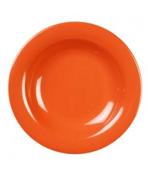 Thunder Group CR5809RD Orange Melamine Salad Bowl 13 oz. (1 Dozen)