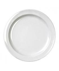 "Thunder Group NS107W Nustone White Round Dessert Plate 7-1/4"" (1 Dozen)"