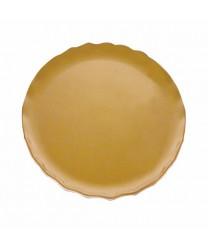 """Thunder Group RF1016G Gold Pearl Round Platter 16-1/2"""""""