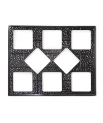GET Enterprises ML-175-BK Black Full Size Tile with Eight Square Cut-Outs